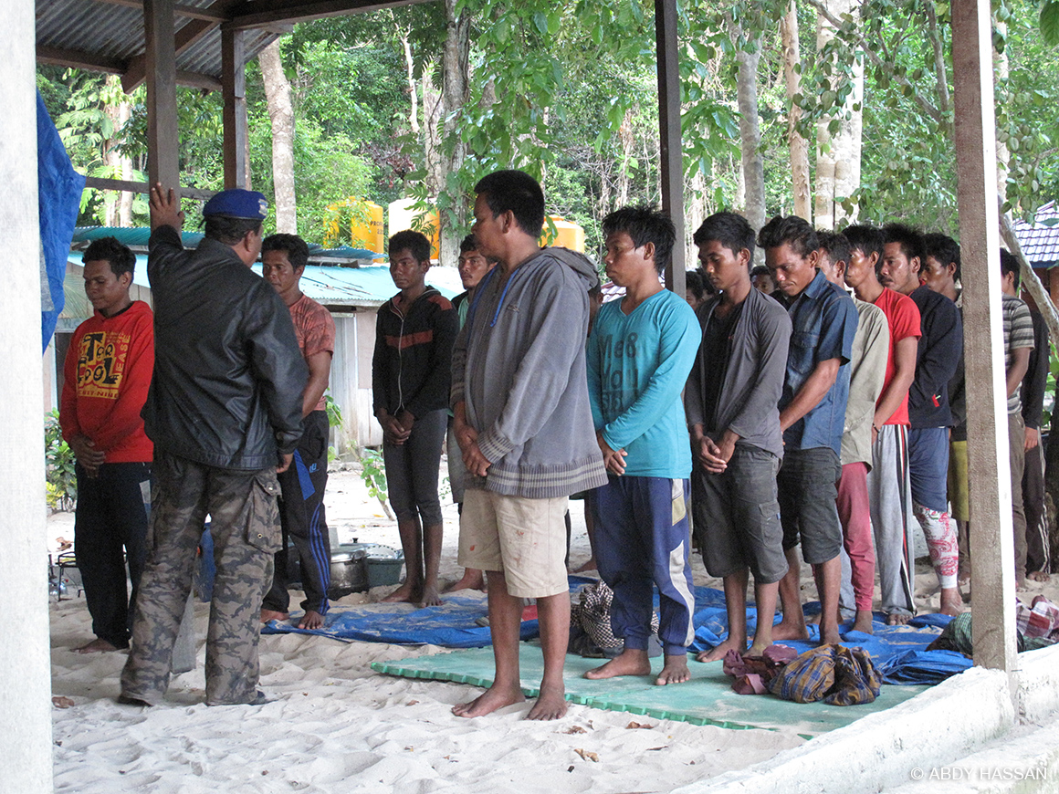 illegal fishers arrested at Wayag ranger post, Indonesia