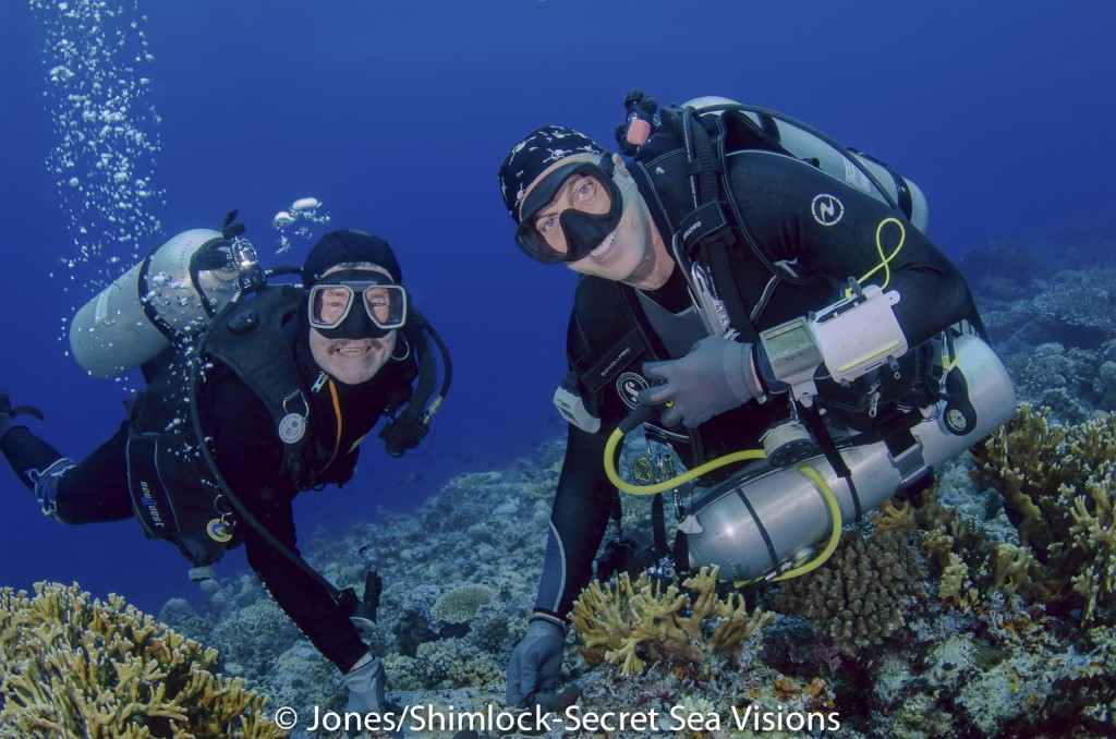 Drs. Allen and Erdmann on the reef