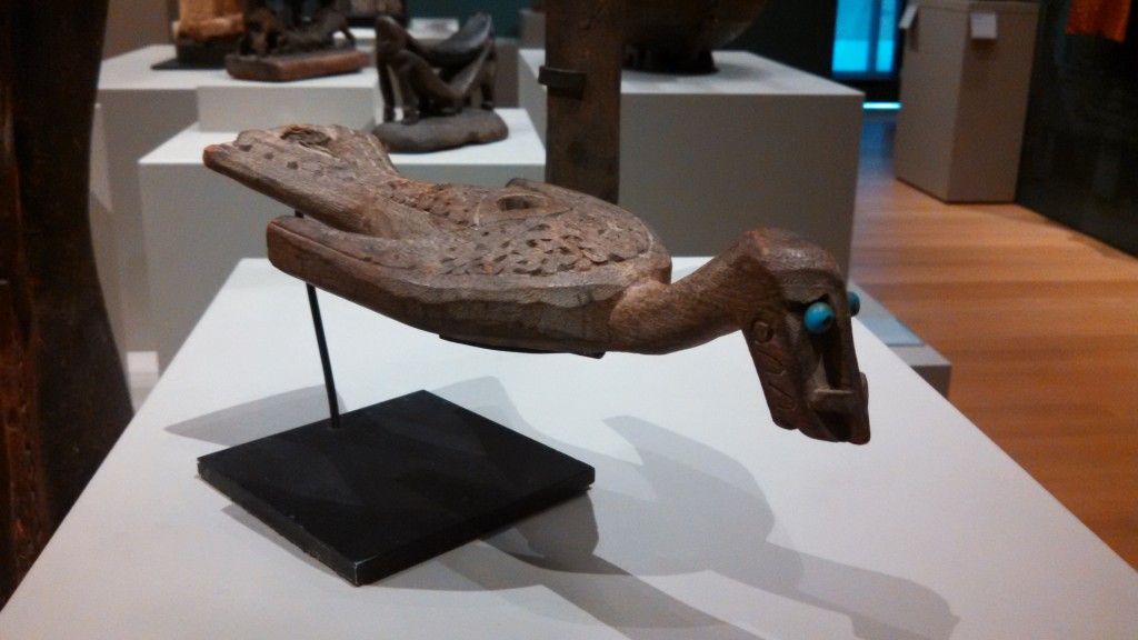 Carved wooden fishing float from Cenderawasih Bay