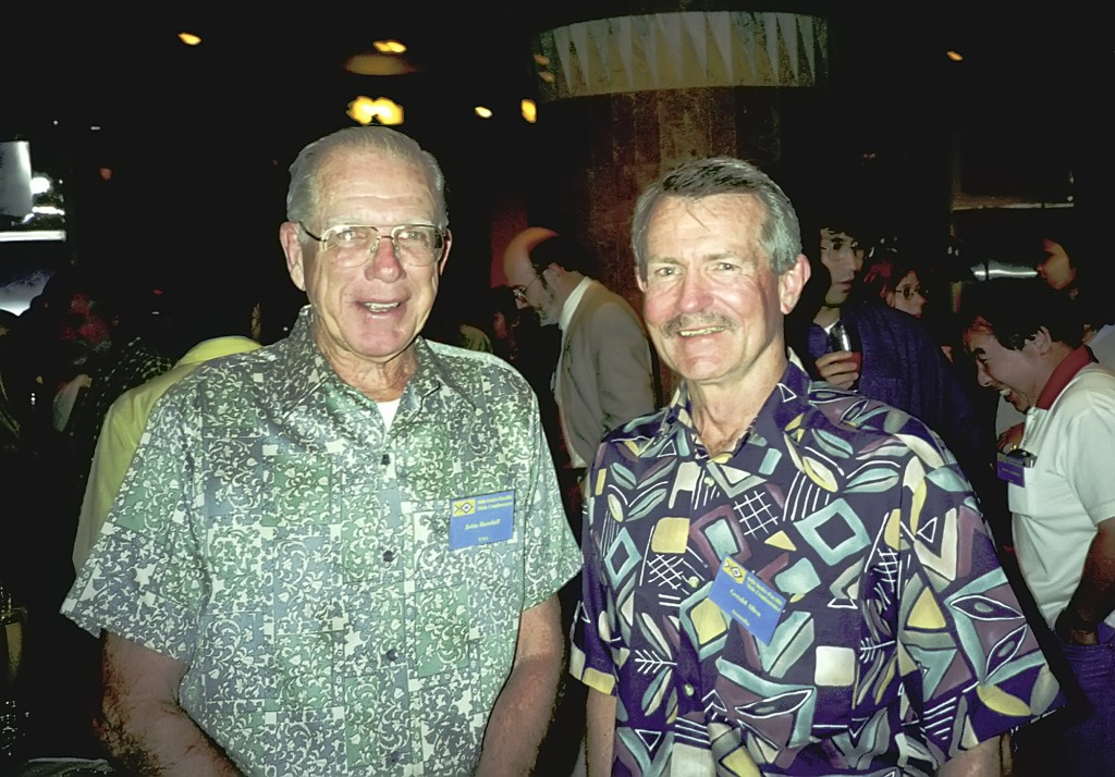 Drs. Randall and Allen at a conference.