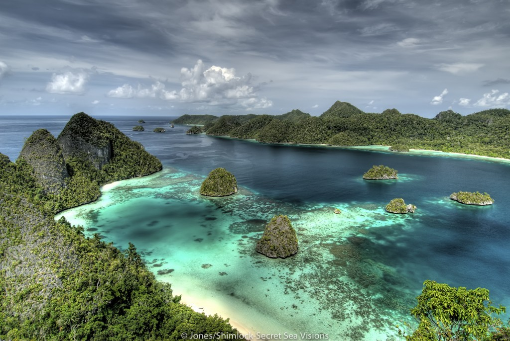View from top of Mount Pindito, Wayag Islands