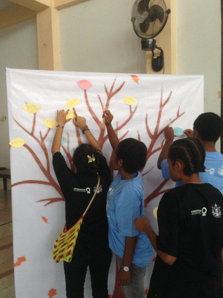 Muda mudi membuat komitmen aksi untuk menjaga alam photo Wida Sulistyaningrum