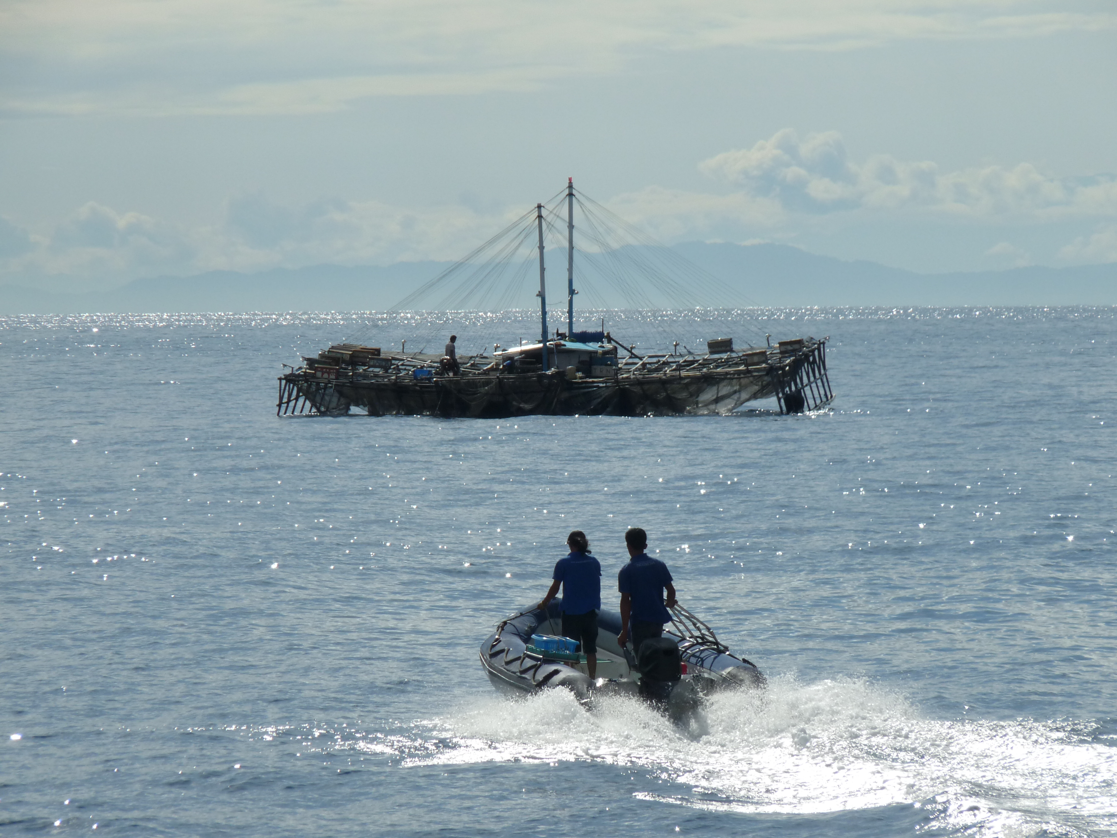 Bird 39 s head seascape a journey to cenderawasih bay by for Floating fishing platform